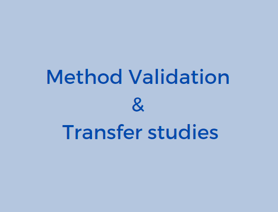 Method validation and transfer studies, method validation and transfer, gmp testing services, transfer method protocol, method validation studies